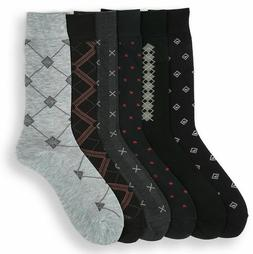 6 12 24 Pairs Mens Argyle Dress Socks Focus Argyle Cotton Bl