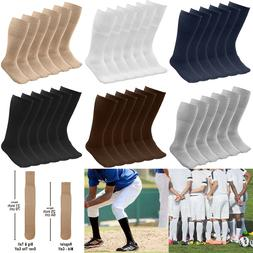 6/18 Pairs Men's Athletic Sports Tube Socks Over the Calf 25