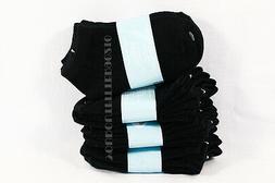 6-8 Kid's Boys Girls Low Ankle No Show Comfort Black Socks C