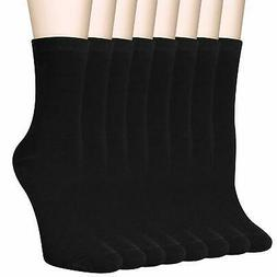 6 8 pairs womens black thin cotton