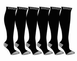 6 ZUOGE Compression Socks  4XL/5XL Nursing Travel Sports Run