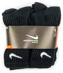 NIKE 6 Pack Boys Performance Cotton Cushioned Crew Socks