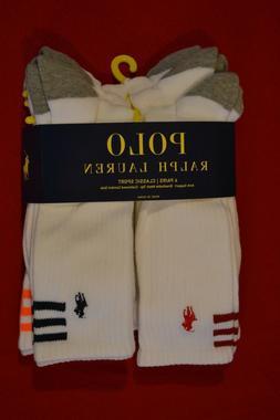 Polo Ralph Lauren 6 pack Color Stripes Classic Crew Socks Me