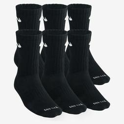 6 Pack Nike DRI-FIT Cushion Crew Training Socks Men's 8-12 B