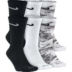 Nike 6-Pack Dri-FIT Cushioned Crew Socks SX5707-900 Camo Whi