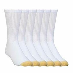 6-Pack Gold Toe Mens Cotton Extended Crew Big and Tall Athle