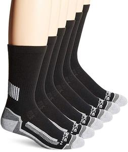 6 Pack Mens Work Crew Socks Breathable Performance Lightweig