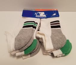 STARTER 6 Pack No Show Active Big Boys Socks LG Size 3-9, NE