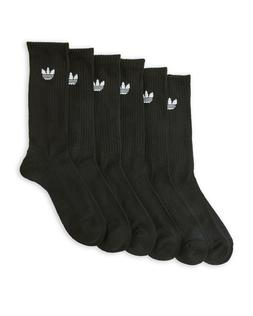 6 PAIRS Mens Adidas Trefoil Cushioned Crew Socks LARGE MEN 8