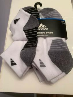 6 Pair Mens Adidas Cushioned Stripes Low Cut Socks Originals