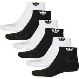 6 Pair Mens Adidas Originals Trefoil Socks Low Cut Ankle Soc