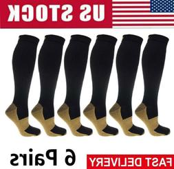 20-30mm Hg Knee High Copper Compression Socks Mens / Womens