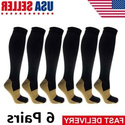 6 pairs copper compression socks 20 30mmhg