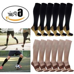 Copper Infused Compression Socks 20-30mmHg Graduated Mens W