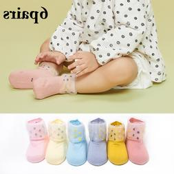 6 Pairs kids <font><b>Socks</b></font> Lovely Lace Floral Br