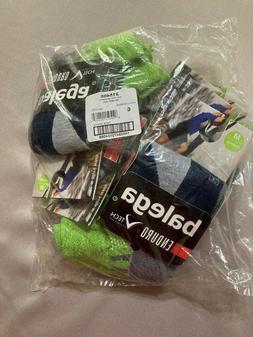 6 Pairs Balega Medium Quarter Socks Green/Gray/Blue New!