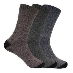 6 Pairs Men's Boot Crew Herringbone Socks Warm Cotton Polyes