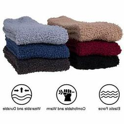 6 Pairs Mens Winter Soft Cozy Warm, A-6 Pairs Mens Fuzzy Soc