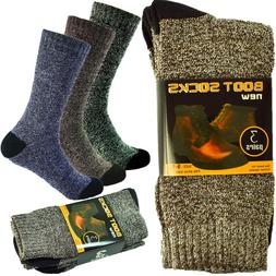 6 Pairs Mens Winter Thermal Cushioned Heavy Duty Cotton Work