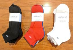 Calvin Klein 6 Pairs Pack Cushioned Sole Quarter Polyester S