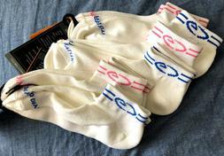 6 Pairs Women Low Cut Ankle Socks Champion Platinum White Du