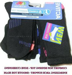 6 Pairs Womens Fruit Of The Loom Comfort Non-Binding Top Arc