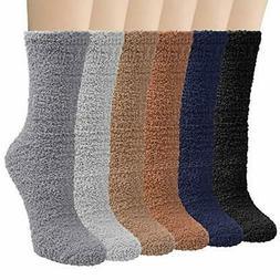 Loritta 6 Pairs Womens Fuzzy Christmas Socks Soft Warm Winte