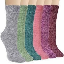 6 pairs womens winter socks comfy dress