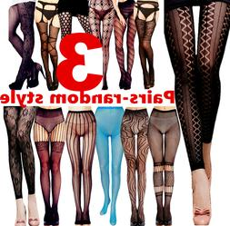 3 Women Socks Stocking Tights Thigh High Long Pantyhose Hosi
