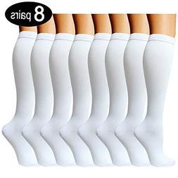 8 Pairs Compression Socks Women & Men -Best Medical,Nursing,