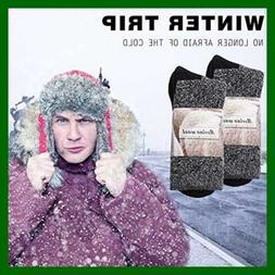 80% Merino Wool Socks Mens Women Winter Hiking Athletic Ther