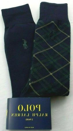 Polo Ralph Lauren 8859 Mens Green Embroidered Trouser Socks