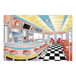 9ft x 6ft 50s Sock Hop Grease Photo Prop Mural Starlite Driv
