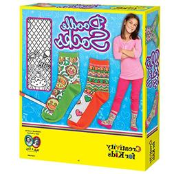 Creativity for Kids Doodle Socks – 3 Pairs of Socks to Col