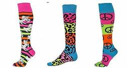 Girls NEON Rainbow UNICORNS Leopard PEACE Sports SOCKS Socce