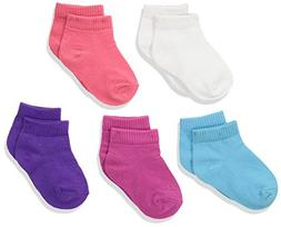 Hanes Girls' Toddler Ankle EZ Sort® Socks Assorted 10-Pack