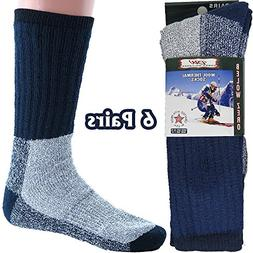 Mens Thermal Socks Heavy Extreme Cold Weather Boot Socks 6-p
