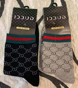 A set of 2 pairs of GUCCI casual socks for men or unisex, Sz