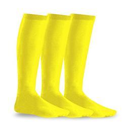 Soxnet Acrylic Unisex Soccer Sports Team Cushion Socks 3 Pac