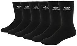 Agron Socks Men's Originals Trefoil 6 Pack Crew Socks, Black