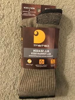 Carhartt All-Terrain All Season Merino Wool Blend Socks Size