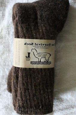 "Alpaca ""Survival Socks""  Size L Brown"