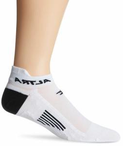 Altra Endurer Anatomical No Show Socks, White/Black