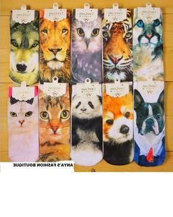 ANIMAL 3D UNISEX ADULT PRINTED LOW CUT ANKLE SOCKS ONE SIZE