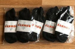 Bombas Ankle Socks Medium 5 Pair Black UNISEX