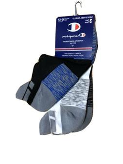 Champion Ankle Socks Mens No Show 6-12 Large Double Dry Low