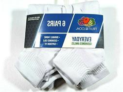 Fruit of the Loom men's 6 pack of ankle socks
