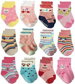 Deluxe Anti Non Skid Slip Slipper Crew Socks For Baby Toddle
