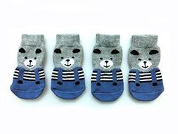 Xanday Anti-Slip Dog Socks, Paw Protectors for Indoor Wear,