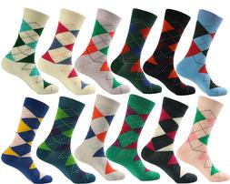 Argyle Men's Groomsman Design Cotton Crew Socks